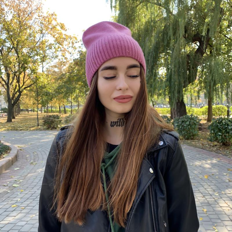 Жіноча шапка 6117 лілова