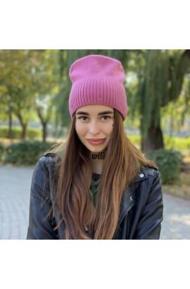 Женская шапка 6117 лиловая