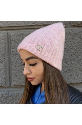 Жіноча шапка 6118 рожева