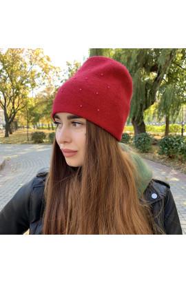 Женская шапка 6738 красная