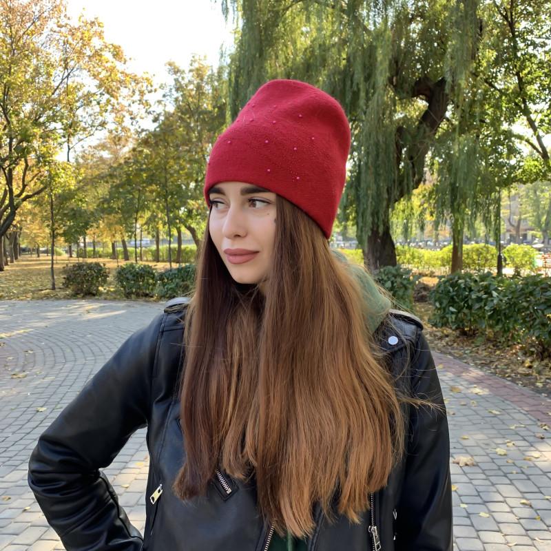 Жіноча шапка 6738 червона