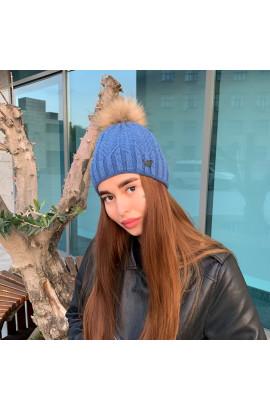 Жіноча шапка 724 синя