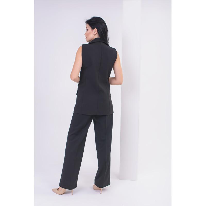 Жіночі чорні штани Палаццо зі стрілками (NM-5B)