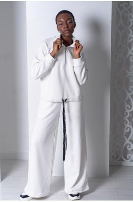 Костюм с брюками палаццо Белый (IF-08КД)