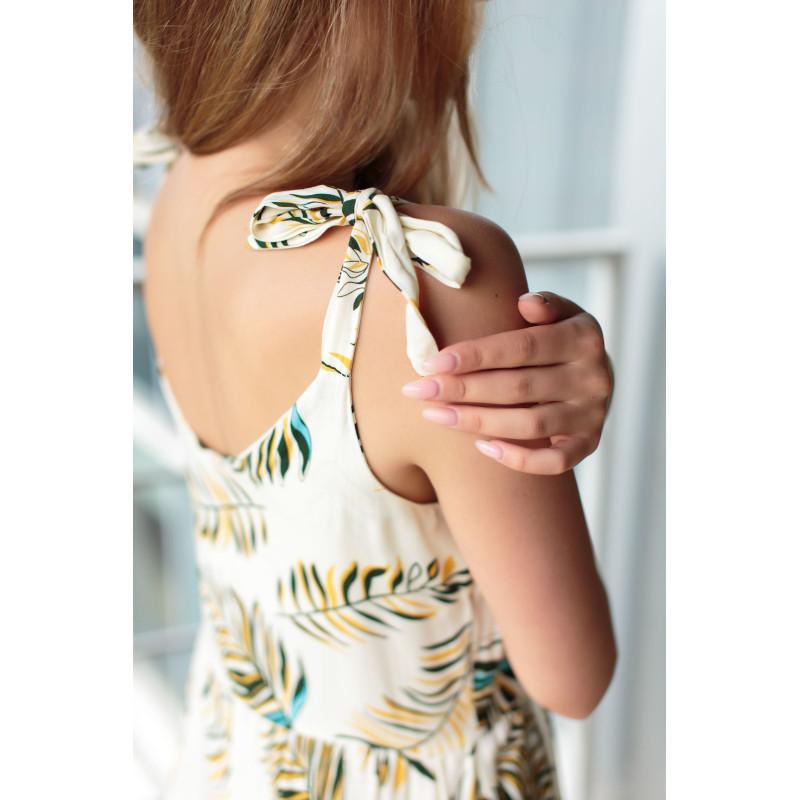 Жіночий сарафан максі Noon March (NM-18ss) молочний