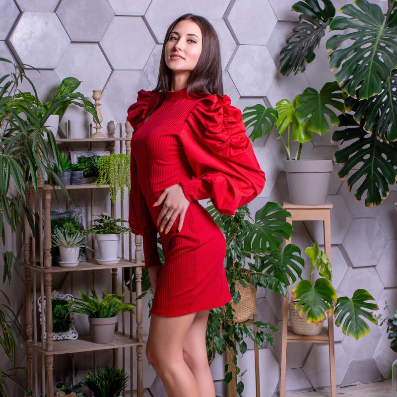 Жіноча сукня 1906 червона