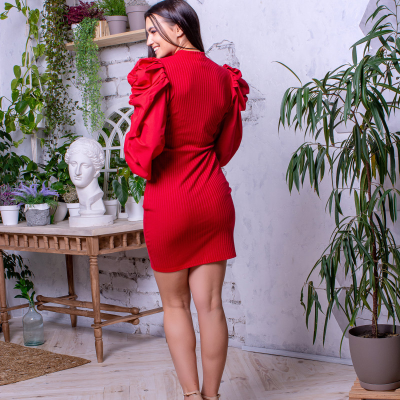 Женское платье 1906 красное