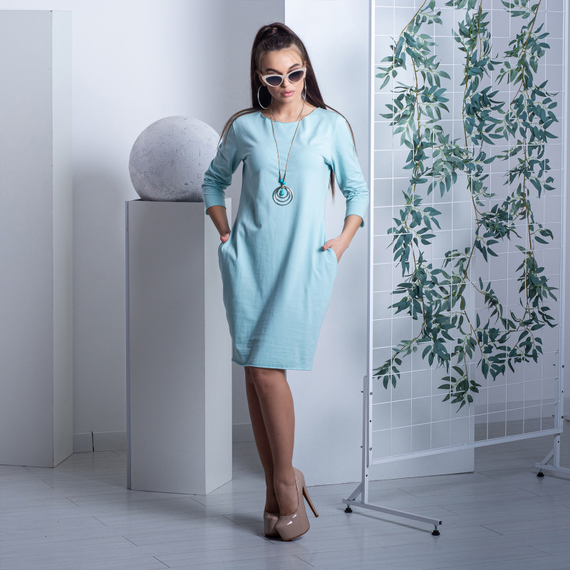 Сукня F.M 4872 ніжно-блакитна