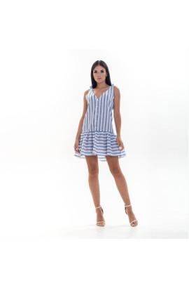 Женский сарафан Shein 5350 в бело-синюю полоску