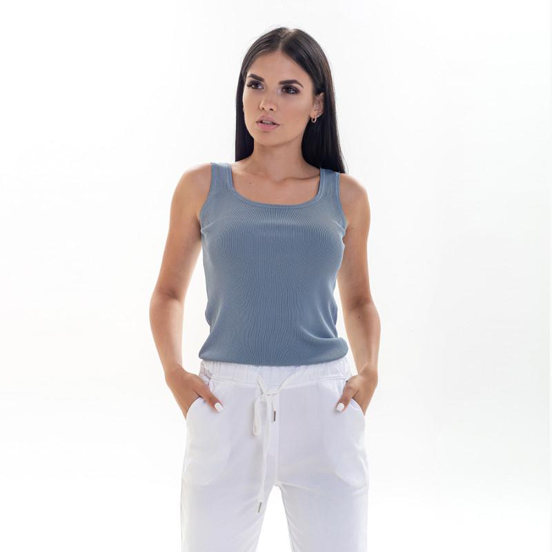 Жіноча сіро-блакитна майка 318